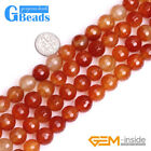 """12mm Red Carnelian Gemstone Faceted Round Beads For Jewelry Making Design 15"""""""