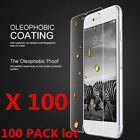 50x Wholesale Lot Tempered Glass Screen Protector for iPhone X 6s 7 8Plus 100x