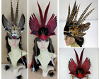 Handcraft Feather Headdress Headband Performance stage Show Headpiece Hair Band