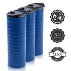 (400ml Blue) - Double Walled Mug with 110 . , leak proof Insulated Blue Matte