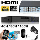 Smart CCTV DVR 4/8/16 Channel AHD 1080N Video Recorder HD 720P VGA HDMI BNC UK