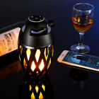 Bluetooth Speaker Atmosphere LED Torch Flame Night Light Lamp For iPhone X 7 8
