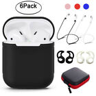 6-Pack Silicone Protective Cover Case Strap Ear Cover Accessories For Airpods