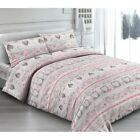 Completo Letto in Fantasia Made in Italy cotone 100% LOVE-ROSA
