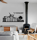 wall protection panels - Vinyl Wall Decal Ecology Logo Solar Panels Protection Of Nature Stickers 2567ig