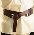 """Re-enactment/Medieval/Larp/Sca LEATHER WRAP AROUND KNIGHTS BELT 1.5""""wide"""