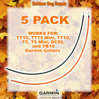 5 Long Range Tuff Skin Replacement Collar Antennas Garmin TT15, TT10, T5, DC50 Hunting Dog Supplies - 71110