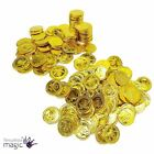 Pack Of 12 Skull Sword Gold Pirate Treasure Booty Coin Kids Toy Fancy Dress Prop