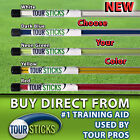 2Pcs Golf Alignment Sticks Swing Tour Trainer Rod Ball Striking Aid Practice