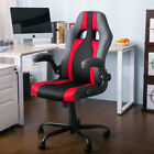 leather gaming chair - Merax PU Leather Racing Style  Gaming Chair Ergonomic Computer Desk Office Chair