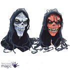 Halloween Scary Skeleton Corpse Fancy Dress Horror Hooded Latex Costume Mask New