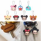 Silicone Key Ring Cap Head Cover Cute Animals Shape Key Case Shell Keychains