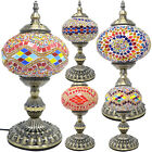 39CM MOSAIC TABLE LAMP GLOBE HANDMADE GLASS MOROCCAN TURKISH HOME DECOR BEDROOM