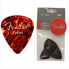 Fender 351 Shape Classic Thin Celluloid Picks, 12 Pack, Shell for electric guita
