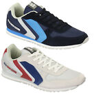 Mens Trainers Crosshatch New Running Track Designer Lace Up Quilted Sneakers