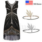 1920's Gatsby Party Flapper Downton Abbey Beaded Dresses Cocktail Evening Dress