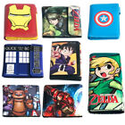 Multi Themes Different Style Long Wallet Short  Tri Fold Purse Coin Bag