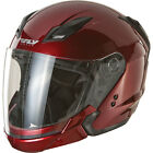 Fly Racing Tourist Helmet - Candy Red - CHOOSE SIZE