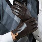 Gloves Genuine Leather Men Winter Driving Wrist Motorcycle Alpine Soft Thermal