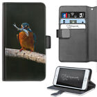 KINGFISHER BIRD PHONE CASE, LEATHER WALLET FLIP CASE, COVER FOR SAMSUNG, APPLE