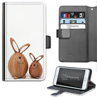 FUNNY WOOD RABBITS PHONE CASE, LEATHER WALLET CASE, COVER FOR SAMSUNG, APPLE ETC