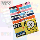 BTS BT21 Cute Pencil Case Pen Box Stationery Zipper Bag Cosmetic Makeup Pouch