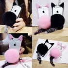 Cute Cat Ear Fur Tail Ball Clear Case Cover For iPhone 5S SE