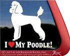 I Love My Poodle |High Quality Vinyl Poodle Dog Window Decal Sticker