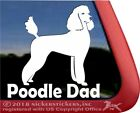 Poodle Dad | High Quality Vinyl Standard Poodle Dog Window Decal Sticker