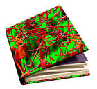 3-D Shimmer Green Stretch Fabric Book Sox Cover Jumbo 3D Glasses Red Lime Orange