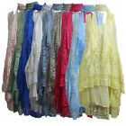 New Ladies Women Layered Lagenlook Italian Floral Lace Panels 3 Pieces Dress