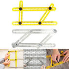 Angularizer Four-sided Ruler Multi Angle Measuring Tool Stainless Steel/ ABS