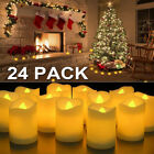 small battery operated led lights - 72 Flameless Battery Christmas LED Tea Lights Flickering Amber Tealight Candles