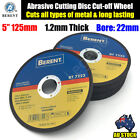 "5"" 125mm Cutting Disc Thin Angle Grinder Cut Off Wheel Metal Steel Flap BT7223"