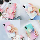 Fresh summer Pop Up Holder Expand love soft case Cover for iPhone X 8 7 6S Plus