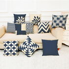 Home Decor Cushion Cover Dark Blue Style Throw Pillowcase Pillow Covers Home Car