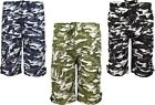 Boys Shorts Army Camouflage Print Military Style Kids Summer Clothes Ages 5-14yr