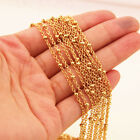 Wholesale Gold Color Beads Cross Chain Necklace Stainless Steel Jewelry In Bulk