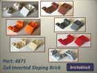 NEW Lego Part 4871 2x4 Inverted Sloped Brick Choose 2-15 *ALL COLOURS SAME PRICE