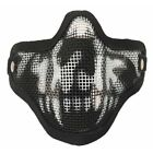 Tactical Airsoft Half Face Mask Steel Mesh Face Cover Army Protective Mask Gear