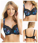 Fantasie Hayley Underwired Non Padded Side Support Bra Black Print 2822 * New