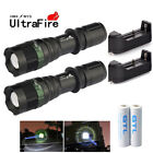 Ultrafire Tactical 15000LM T6 LED Flashlight Zoomable + 18650 + Charger + Holder
