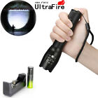 50000Lumens Flashlight T6 Zoom Tactical Police LED 18650 Torch Lamp Light B
