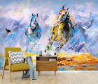 3D Run Horse Painting 5 Wall Paper Wall Print Decal Wall Deco Indoor Wall Murals