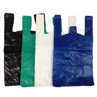 VEST PLASTIC CARRIER BAGS GREEN BLUE BLACK 4 STAR 11