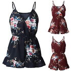 Women Lady Spaghetti straps Floral Jumpsuit Romper Summer Beach Playsuits GIFT
