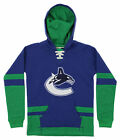CCM NHL Youth Vancouver Canucks Vintage Pullover Hoodie, Blue