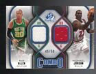 MICHAEL JORDAN / RAY ALLEN 2009-10 SP GAME USED COMBO JERSEY 45/50 (BULLS-CELTIC