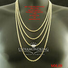 MEN'S WOMEN'S REAL 10K SOLID YELLOW GOLD  ROPE CHAIN NECKLACE 2 MM 16~30 INCH