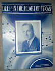 1941 DEEP IN THE HEART OF TEXAS Sheet Music REX MAUPIN by Swander, Hershey